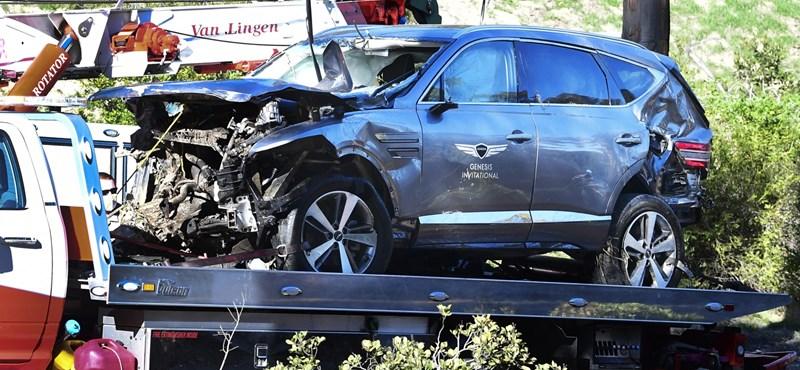 70 helyett közel 140-nel hajtott Tiger Woods, amikor balesetet szenvedett