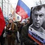 Több ezren tüntettek a Nyemcov-gyilkosság évfordulóján