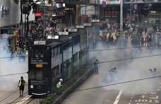 Könnygázt vetettek be a hongkongi tüntetők ellen