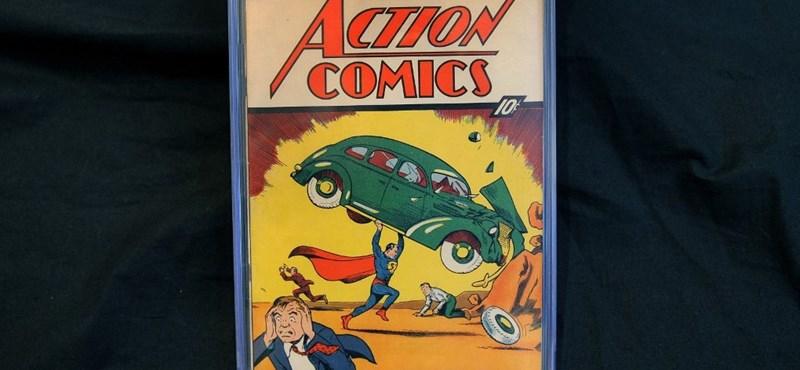 Elképesztő összegért kelt el egy ritka Superman-képregény