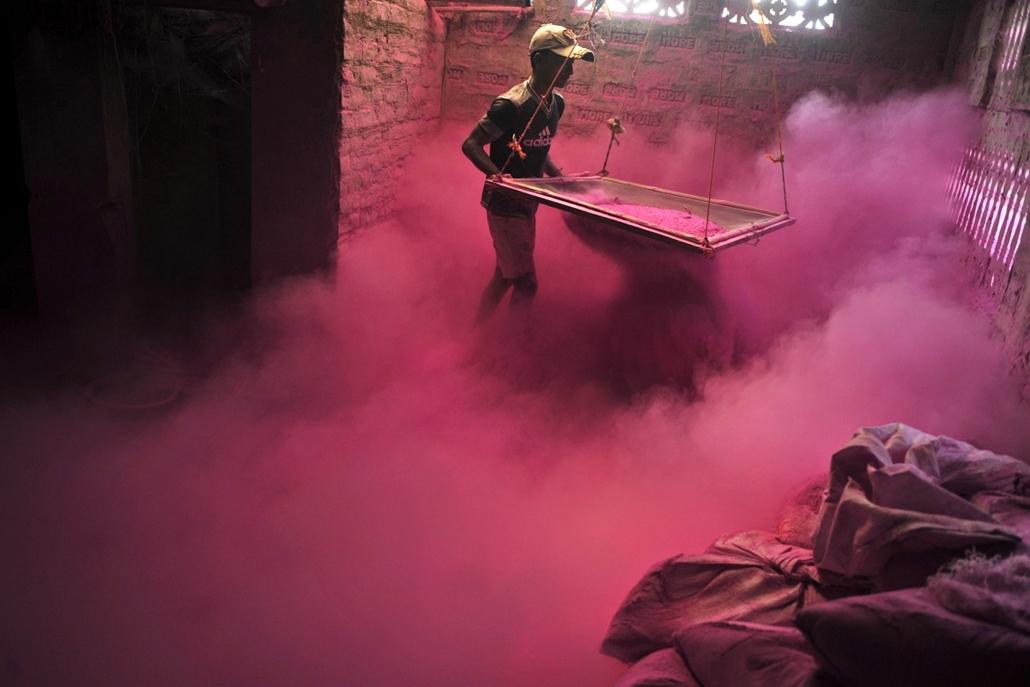 Holi fesztivál, a színek fesztivája Indiában - holi-nagyítás