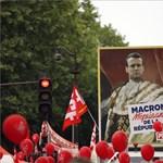 Több szakszervezet is a radikális balosok mellé állt Macron ellen