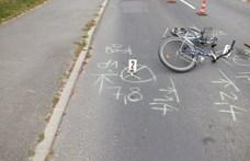 Tolatás közben csaptak el egy kerékpáros nőt