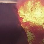 Videóra vette egy drón, ahogy belerepül egy fortyogó vulkánba