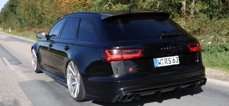 Családapák álma: az 1000+ lóerős Audi RS6 így gyorsul 0-ról 300-ra – videó
