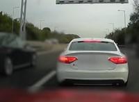"""Közúti veszélyeztetésért felelhet az M1-es közepén büntetésből """"leparkóló"""" autós"""