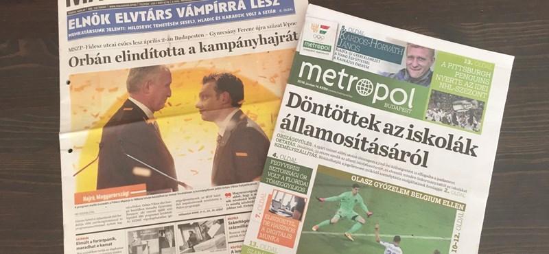 Puccs, pénz, politika - a magyar sajtó fekete napjai