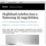 Az iPhone 6 ellen küldené a Samsung a hajlítható telefont