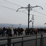 Baleset bénította meg a legforgalmasabb fővárosi villamosvonalat