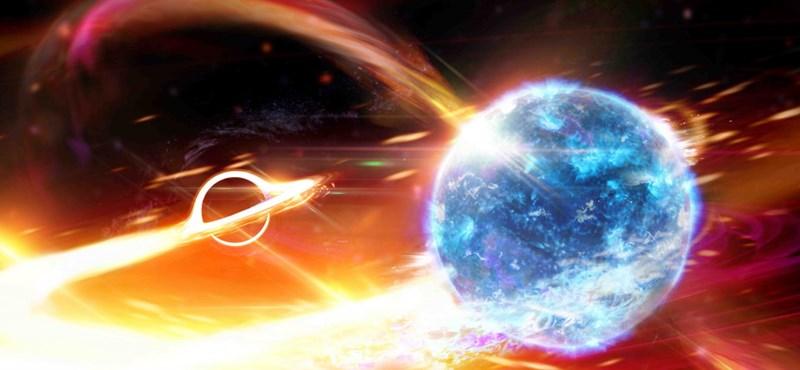 Rejtélyes égitesttel ütközött össze egy fekete lyuk