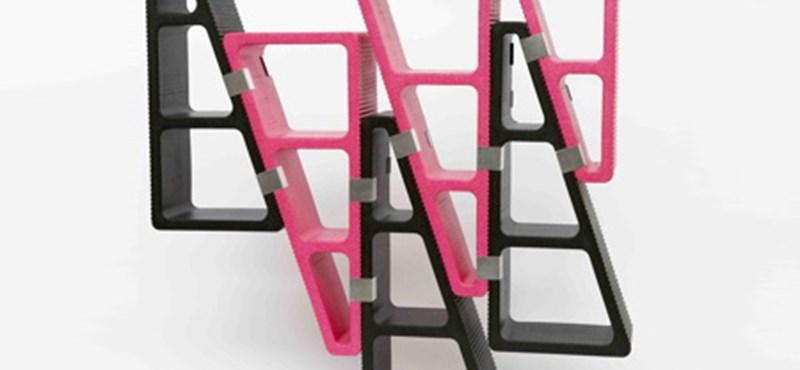 Tré: műanyag, rózsaszín polcok