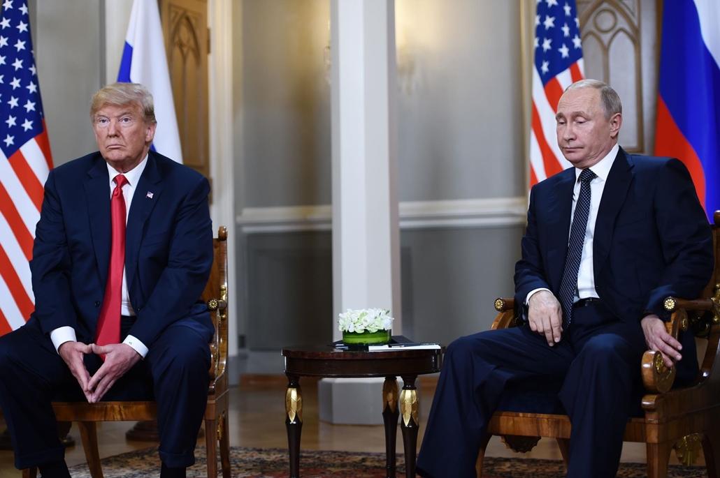afp.18.07.16. Vlagyimir Putyin orosz elnök és Donald Trump amerikai elnök találkozása Helsinkiben július 16-án