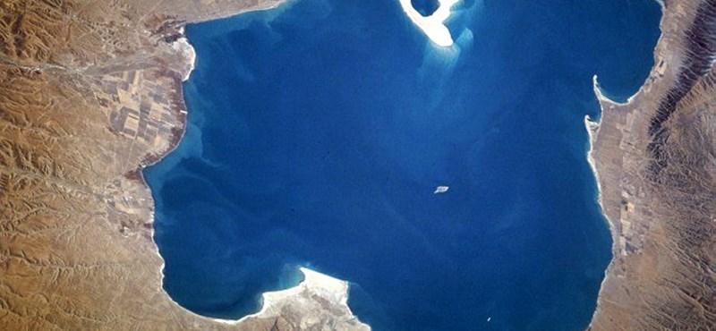 Ez rekord: 4548,56 négyzetkilométeresre nőtt Kína legnagyobb sós tava