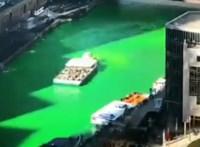 Zöldre festették a folyót Chicagóban Szent Patrik napján - videó