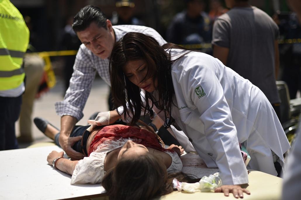 afp.17.09.20. - Mexikóváros, Mexikó: 7,1-es erősségű földrengés Mexikóban - eddig 224 halott