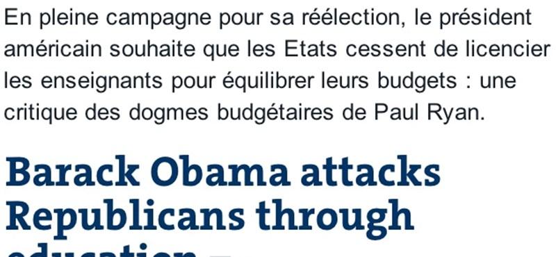Bush-nak fordítja Obamát a Google Translate
