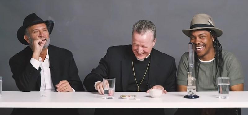 Videó: egy rabbi, egy pap és egy ateista szívott egy kis füvet, és megbeszélték az élet nagy dolgait