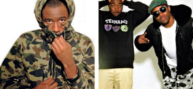 Odd Future rapperek az új Bape kollekcióban