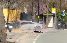 A lehető legcikibb módon, pár méteren belül rommá törte a Lamborghinit – videó