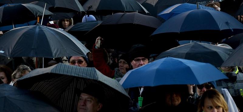 A tiltakozás újabb jele: fekete esernyőt nyitnak az iskolákban