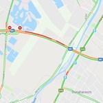 Több kilométeres a dugó az M0-son egy baleset miatt