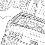 A gyárak állnak, így színezőkönyvvel állt elő az Audi