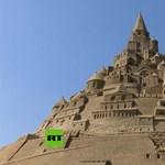 Világrekord: 17,5 méteres homokvárat építettek Németországban