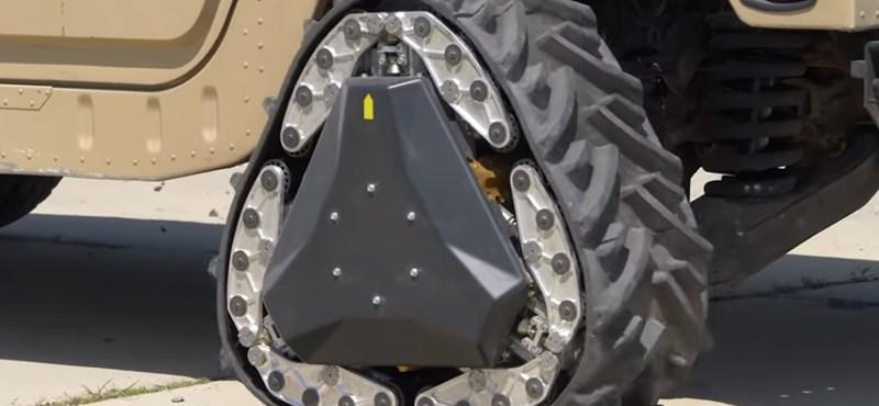 Itt az új autókerék, ami gombnyomásra alakot változtat – videó