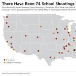 Megdöbbentő térkép az USA-ról: iskolai lövöldözések az utóbbi másfél évben