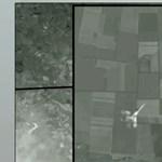 Vadászgép lőhette le a maláj gépet egy orosz tévé szerint - műholdkép