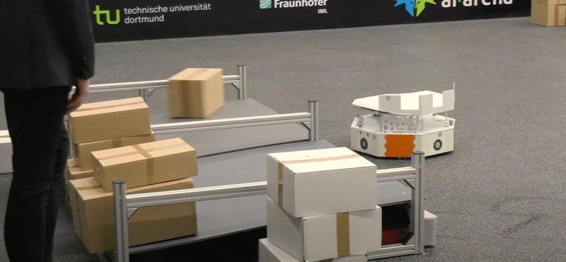 Videó: Száguldozó robotokat fejlesztettek a németek, így bánhatnak majd a csomagokkal