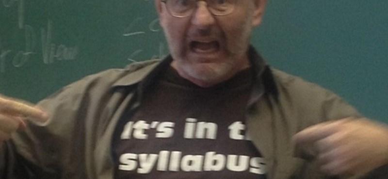 A nap képe: a diák kérdezett, a professzor visszavágott