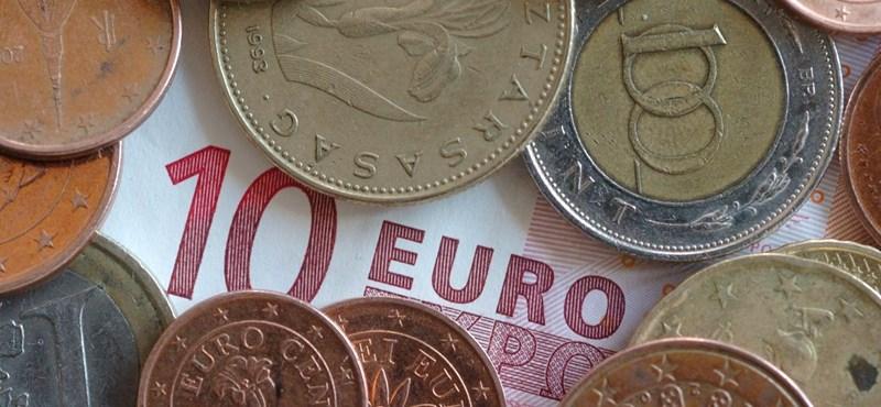 296 forinton jegyzik az eurót
