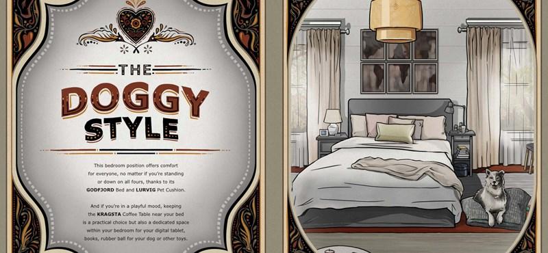 Káma Szútra-pozíciókkal reklámozza ágyait az IKEA