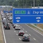 Dugó van az M7-esen Letenyénél