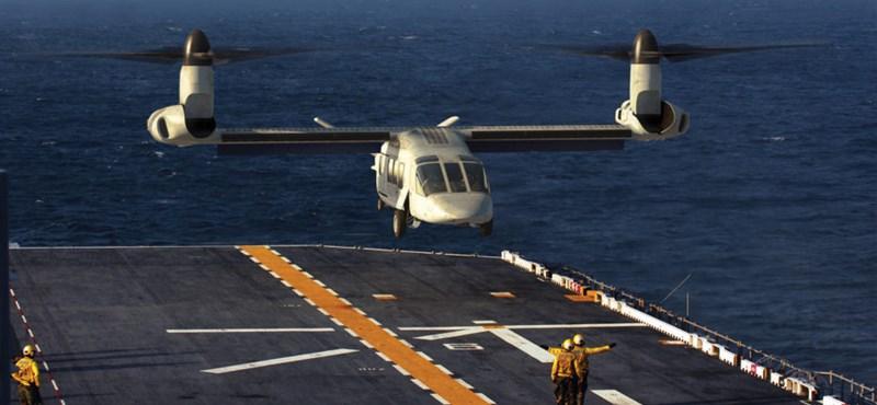 560 km/h-val megy és nagyon messzire: durva repülőgép-helikoptert kapnak az amerikai katonák –fotók