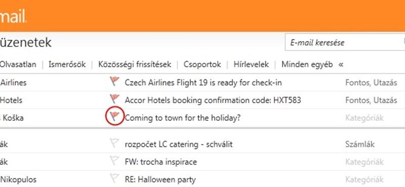 Ráncfelvarrás a Hotmailben