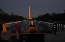 Beiktatása előtt a járvány 400 ezer amerikai halottjára emlékezett Biden