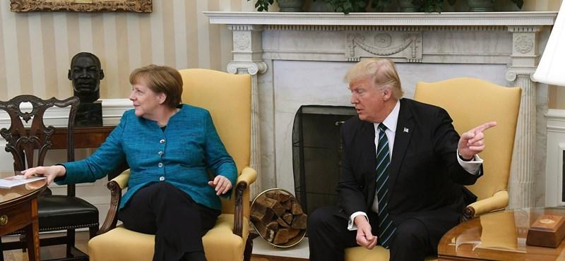 A washingtoni csúcson sem melegedett össze Trump és Merkel