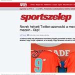 Nevek helyett Twitter-azonosító a focisták mezein