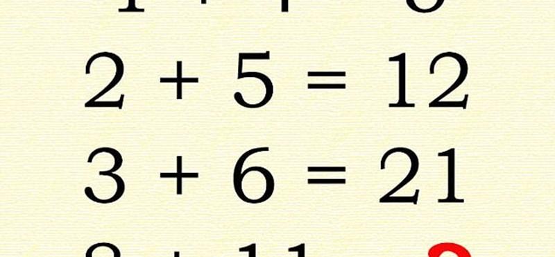 Ezt a matematikai feladatot senki nem tudja helyesen megoldani