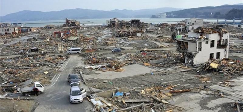 """""""Kettős"""" cunami okozta a márciusi pusztítást Japánban"""