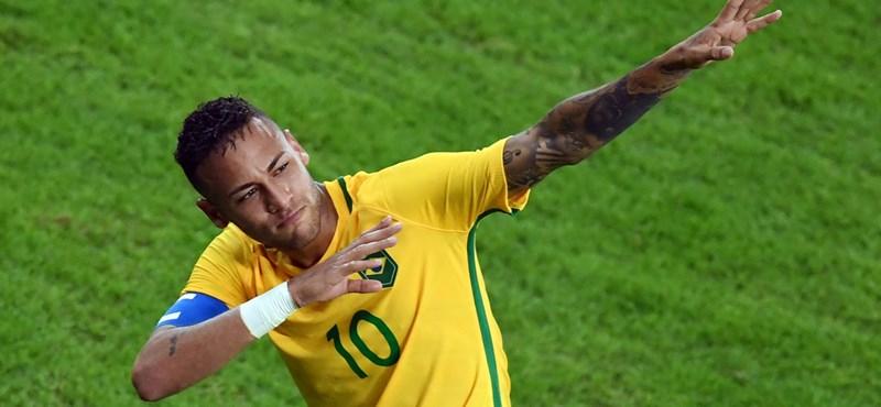 Neymar újabb zseniális gólján Szabics és Kassai is ámulhatott - videó