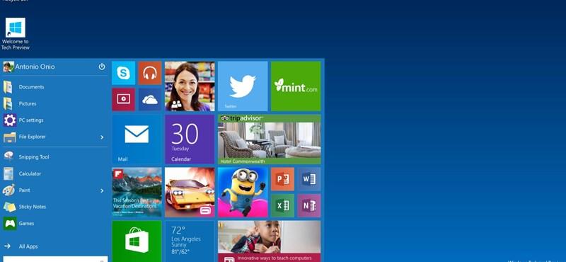 Bemutatták: itt a kissé színtelen-szagtalan Windows 10