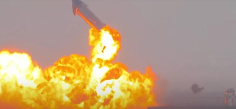Videó: Akkorát robbant a SpaceX Csillaghajója, hogy újra a levegőbe emelkedett
