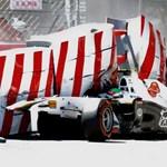 F1: Perez balesete miatt állt a Monacói Nagydíj időmérője