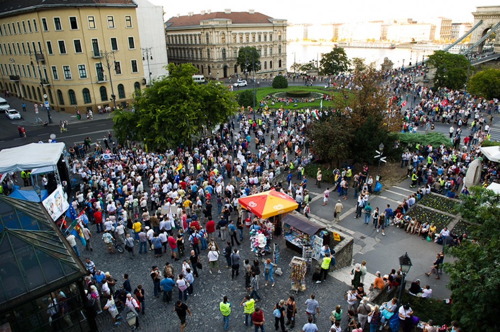 Szakszervezeti tüntetés Szoldidarítás mozgalom