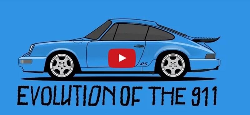 53 év másfél percben: ennyit változott a Porsche 911 – videó