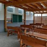 Kültéri tanteremet építettek egy komáromi iskola udvarára