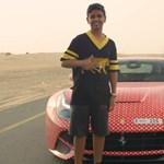 Videó: a 15 éves dubaji srác és a saját Louis Vuitton Ferrari F12-ese